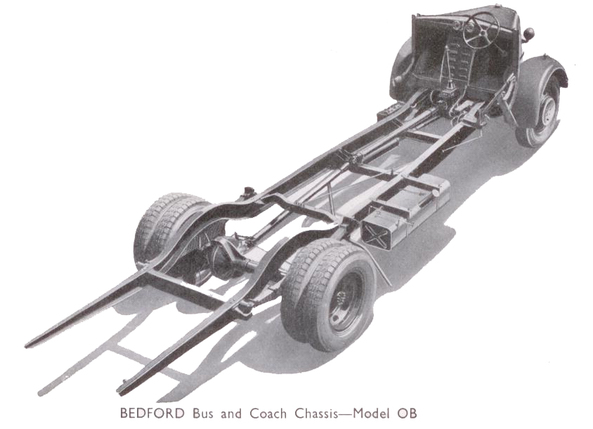 Bedford Model OB Coach Chassis